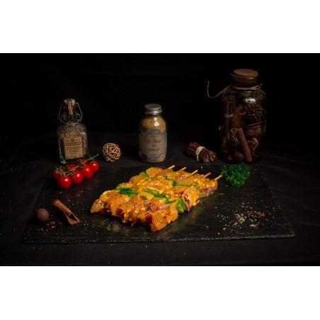 Brochette de dinde curry