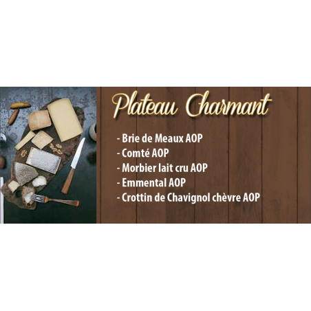 Plateau Fromage Charmant